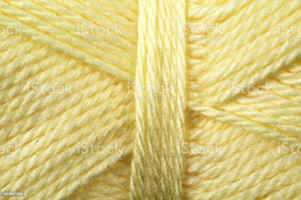 Yellow Yarn Texture Close Up stock photo