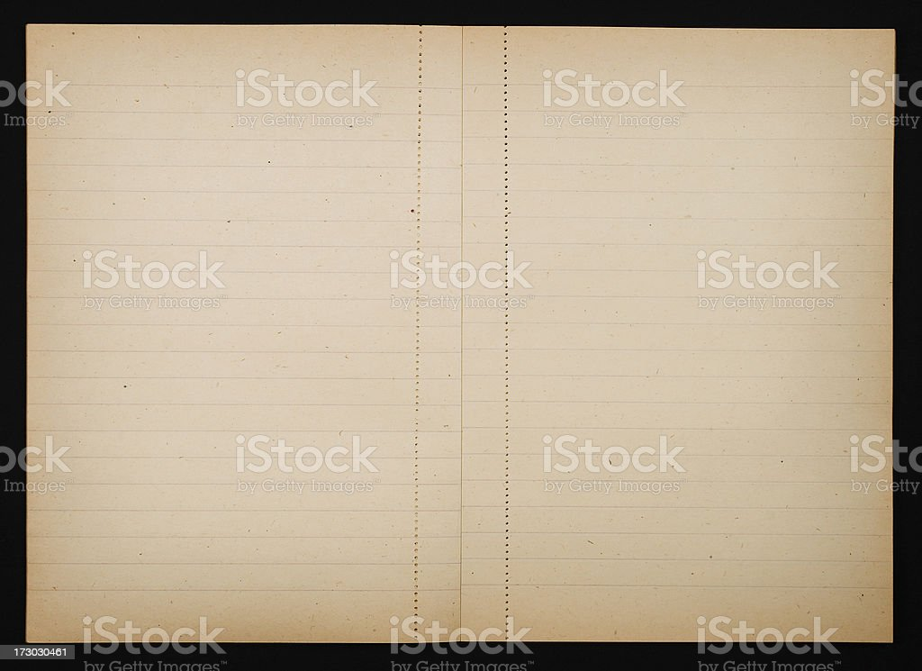 Yellowed notebook royalty-free stock photo