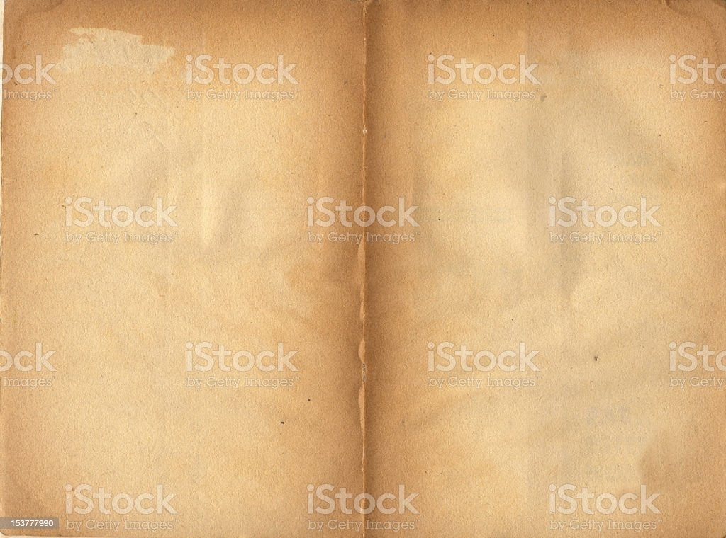 Yellowed Old Paper Background royalty-free stock photo