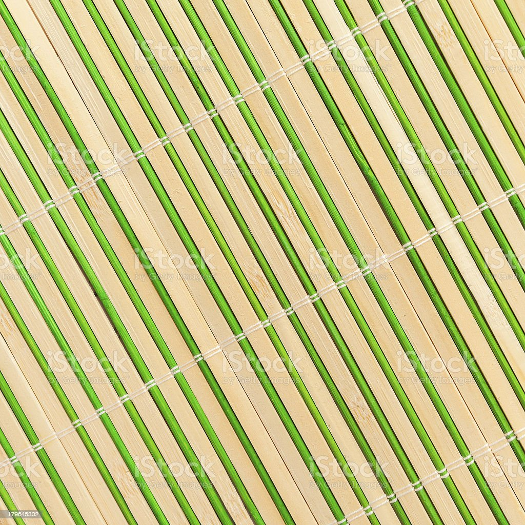 yellow-green bamboo napkin roll royalty-free stock photo
