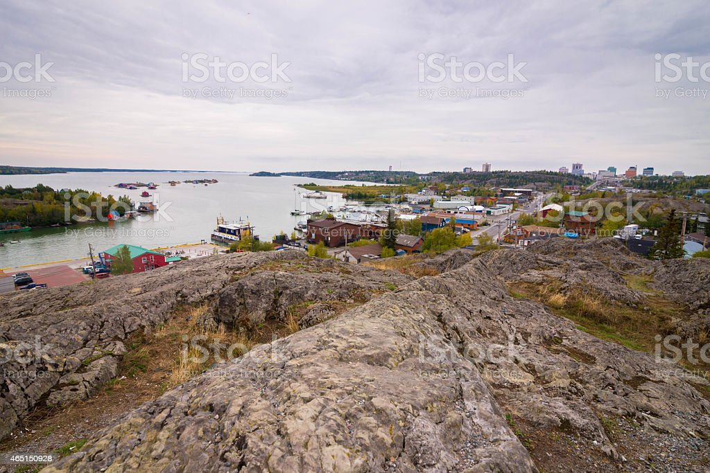 Yellowknife, Northwest Territories stock photo