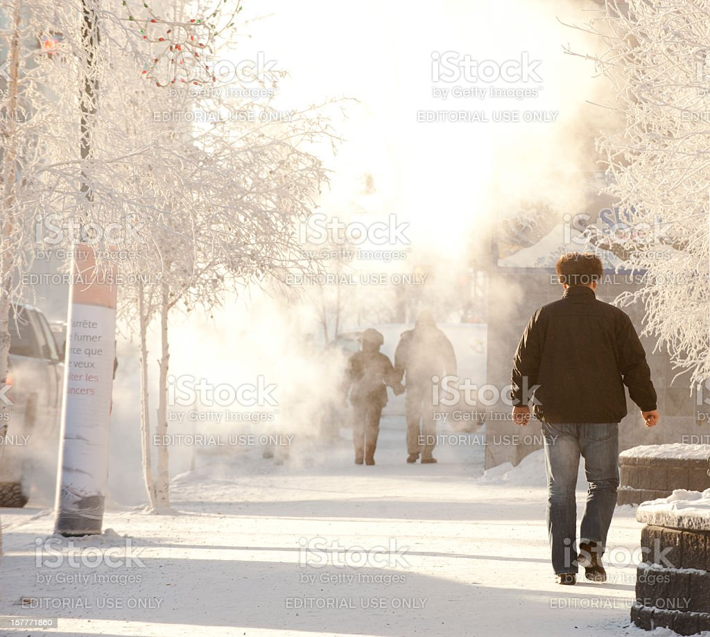 Yellowknife Winter. stock photo