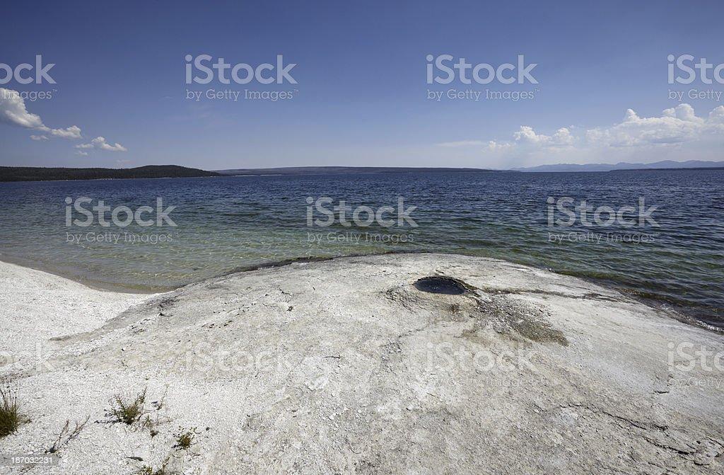 Yellowstone : Big Cone at West Thumb Geyser Basin royalty-free stock photo