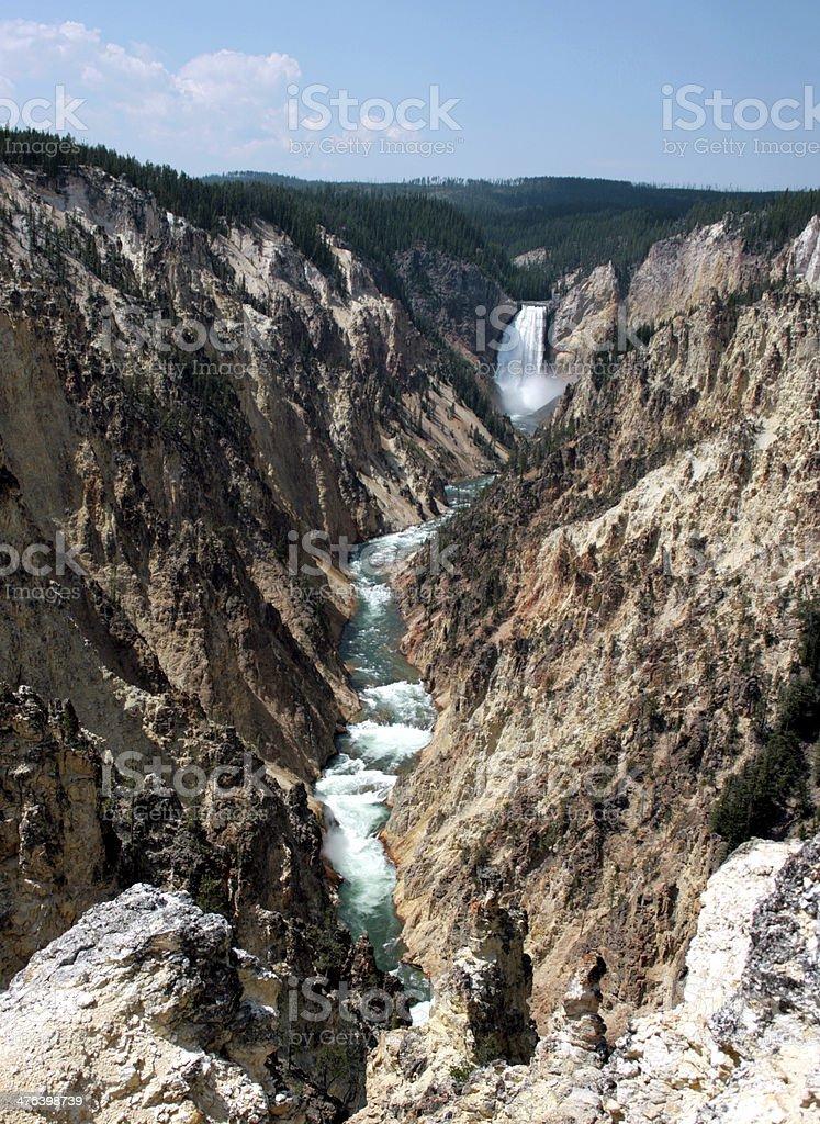 Yellowstone Canyon royalty-free stock photo
