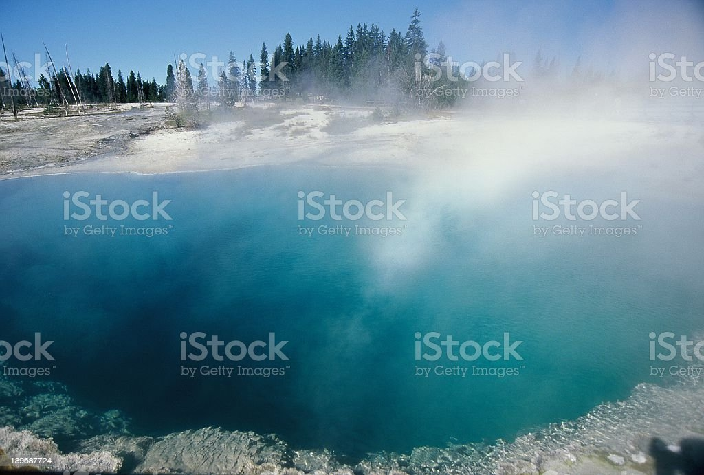 Yellowstone Geothermal Pool royalty-free stock photo