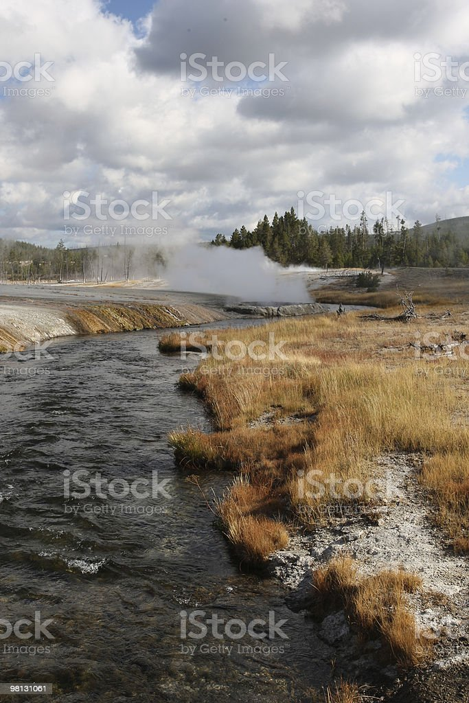 Yellowstone Geyser Basin royalty-free stock photo