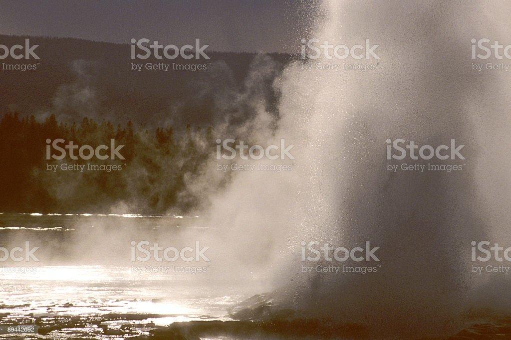 Yellowstone Geyser royalty-free stock photo
