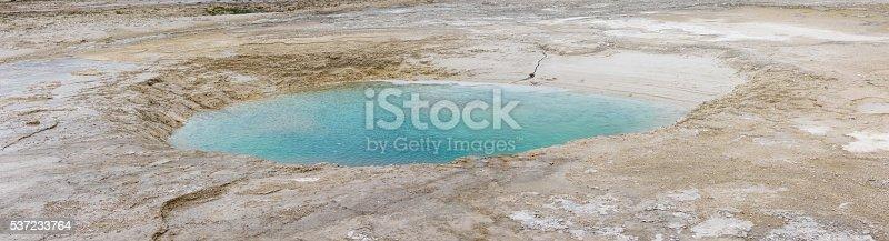 Yellowstone Grand Prismatic Blue Spring Panorama