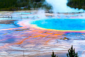 Colorful grand prismatic spring