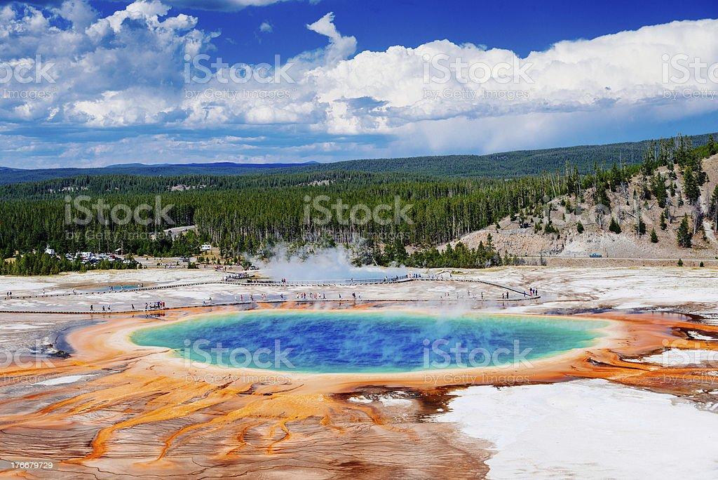 Yellowstone Grand Prismatic foto de stock libre de derechos