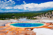 Yellowstone Grand Prismatic Spring. Wyoming. United States.
