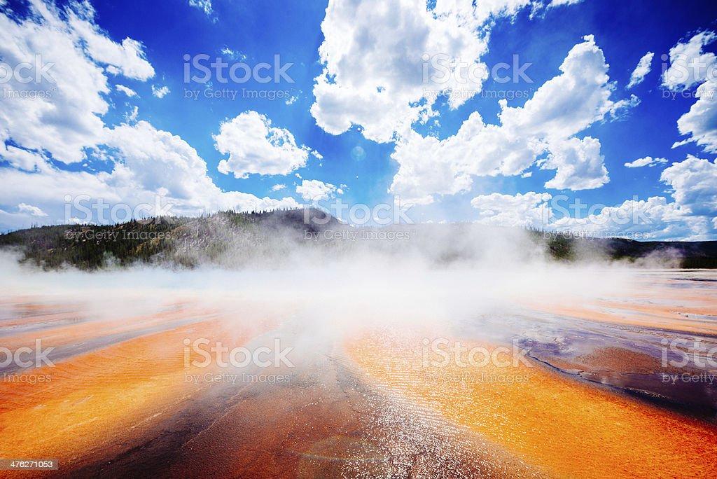Yellowstone Grand Prismatic Spring royalty-free stock photo