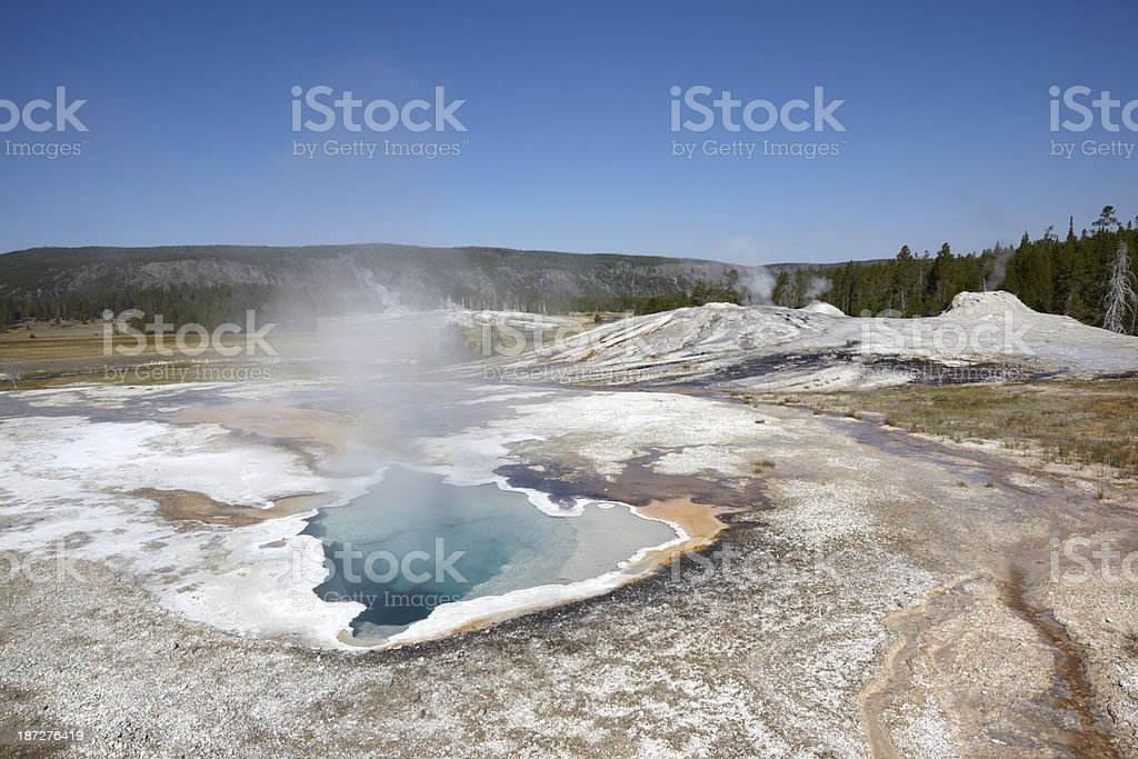 Yellowstone : Heart Spring and Lion Geyser royalty-free stock photo