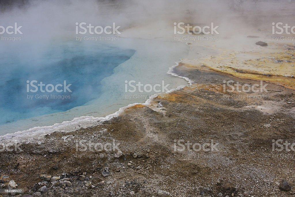 Yellowstone Hot Spring stock photo