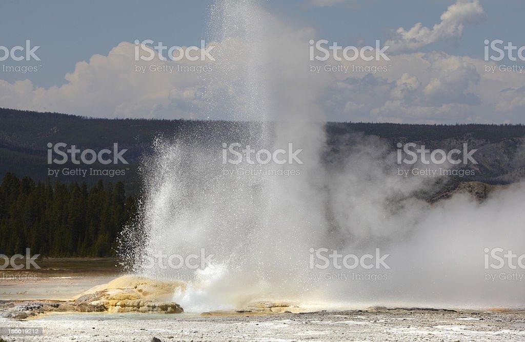Yellowstone : Kaleidoscope Group Geyser royalty-free stock photo