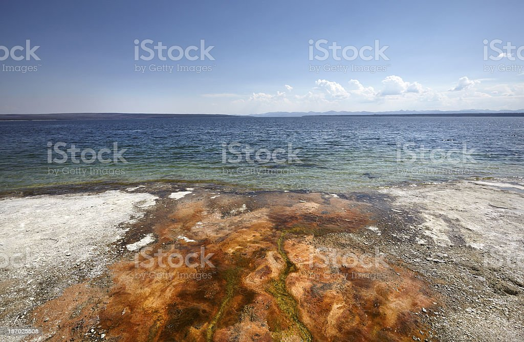 Yellowstone Lake at West Thumb Geyser Basin​​​ foto