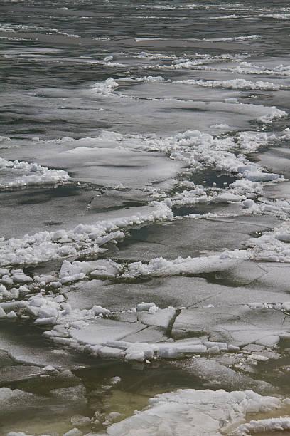 Yellowstone Lake Ice Breakup stock photo