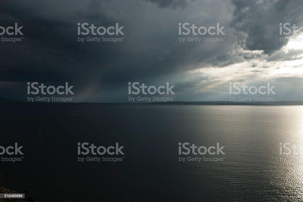 Yellowstone Lake stock photo