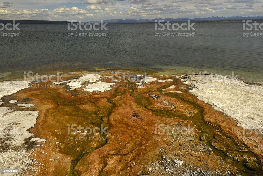 Yellowstone Lake royalty-free stock photo