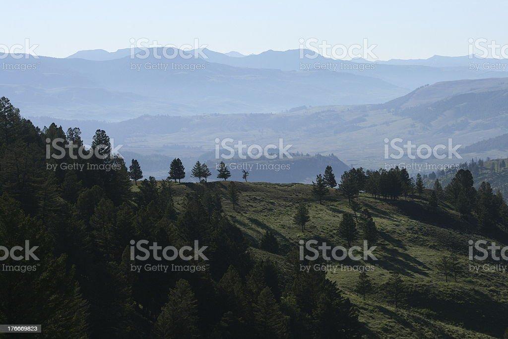 Paisaje de Yellowstone foto de stock libre de derechos