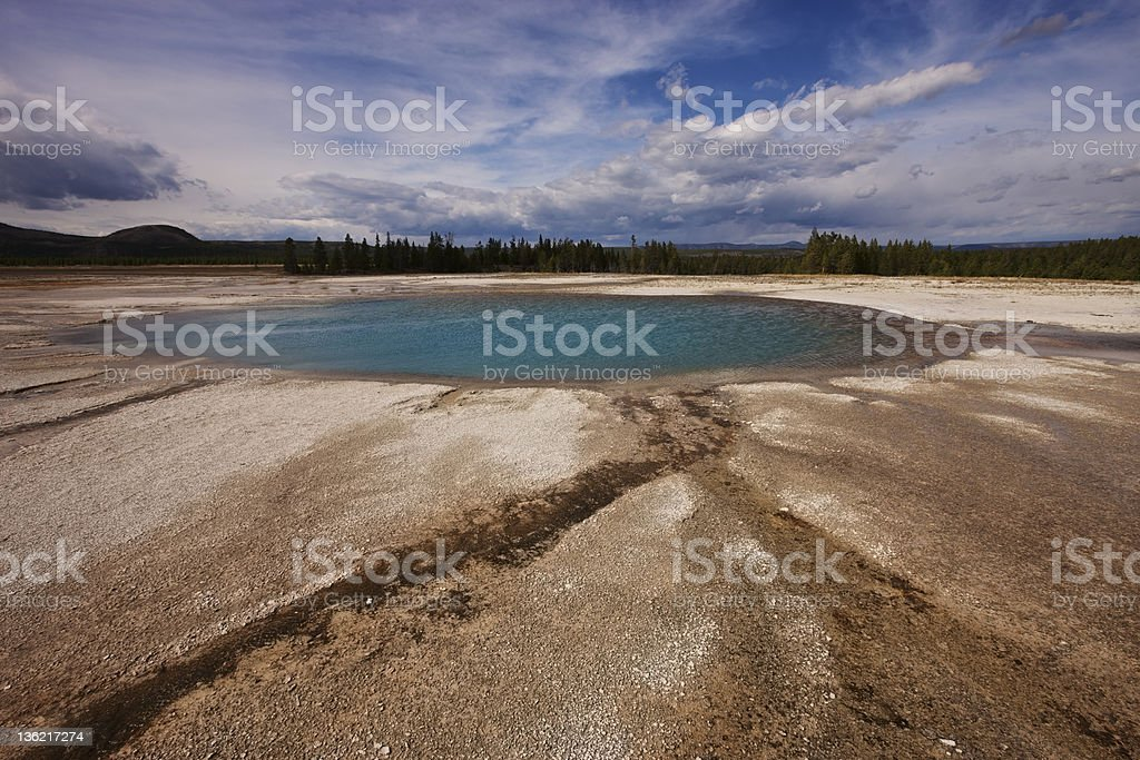 Yellowstone Midway Geyser Basin Opal Pool Stock Photo & More