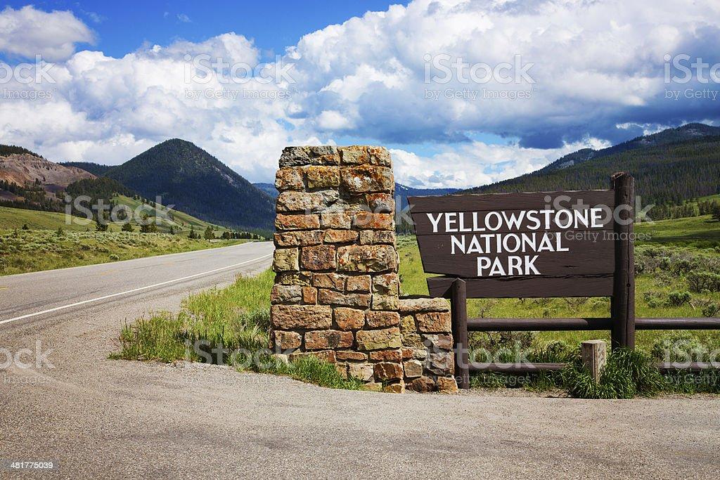 Yellowstone national park entrance royalty-free stock photo