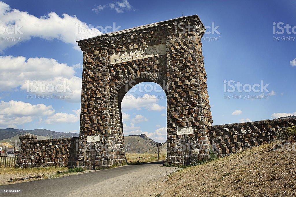 Ingresso del Parco Nazionale di Yellowstone foto stock royalty-free
