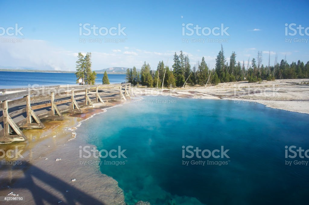 Yellowstone National Park Geyser - stock photo
