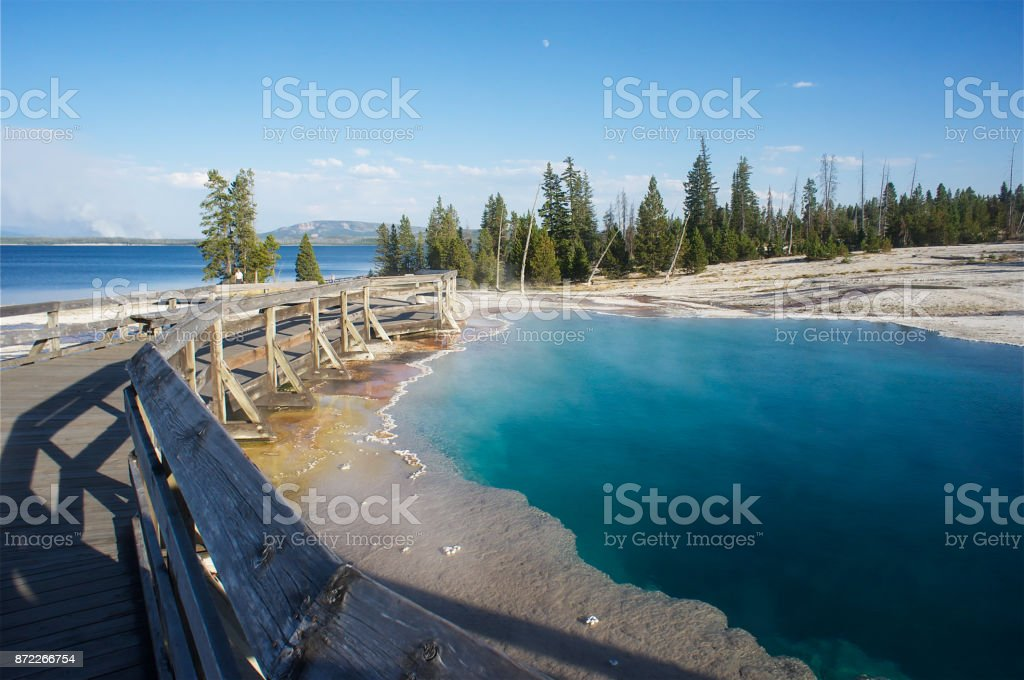 Yellowstone National Park Geyser stock photo