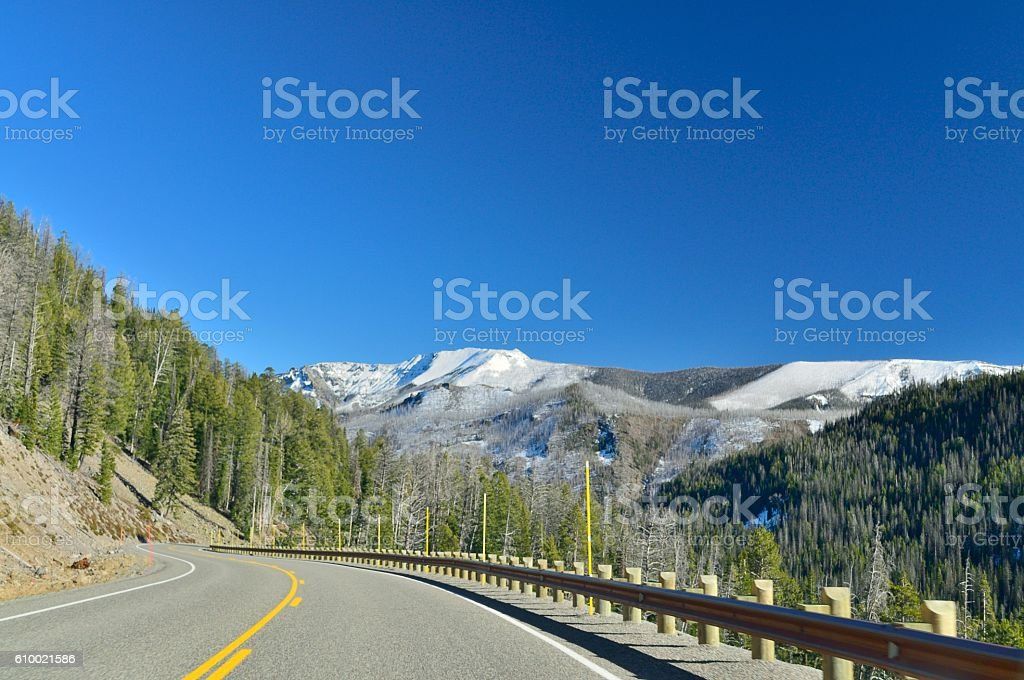 Yellowstone National Park Grand Loop Road Scene stock photo