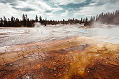 yellowstone national park hot spring