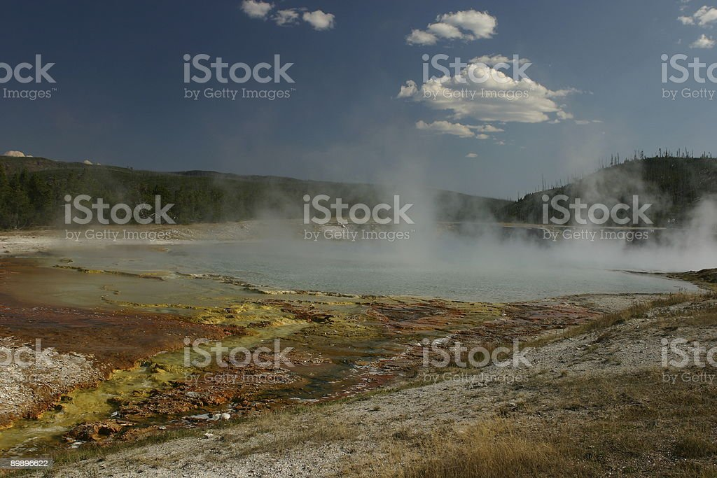 Yellowstone National Park, der hot springs Lizenzfreies stock-foto