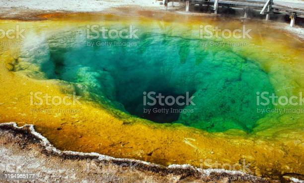 Yellowstone National Park -  Morning Glory Pool - Wide View - 1981