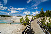 Yellowstone National Park - Norris Geyser Basin - Boardwalk Leads to Trails
