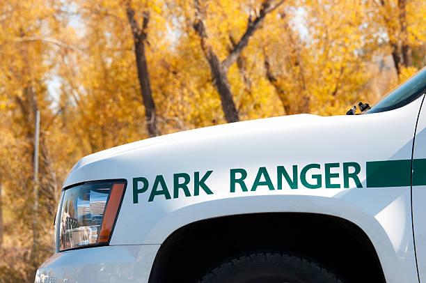 Yellowstone National Park Ranger Yellowstone National Park Ranger. park ranger stock pictures, royalty-free photos & images