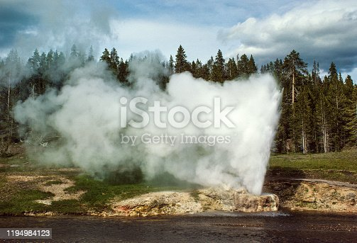 Yellowstone National Park - Riverside Geyser Close-up - 1981. Scanned from Kodachrome slide.