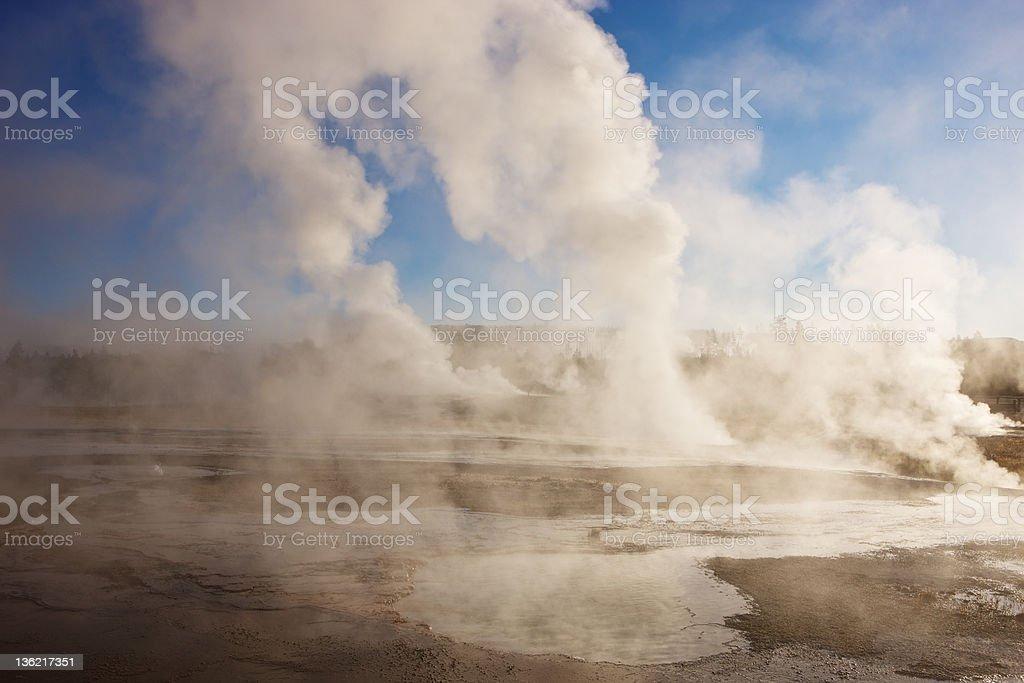 Yellowstone, Norris Geyser Basin stock photo
