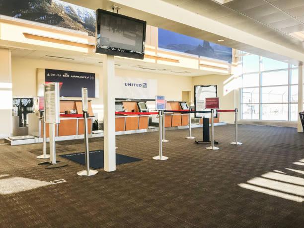 Yellowstone Regional Airport stock photo