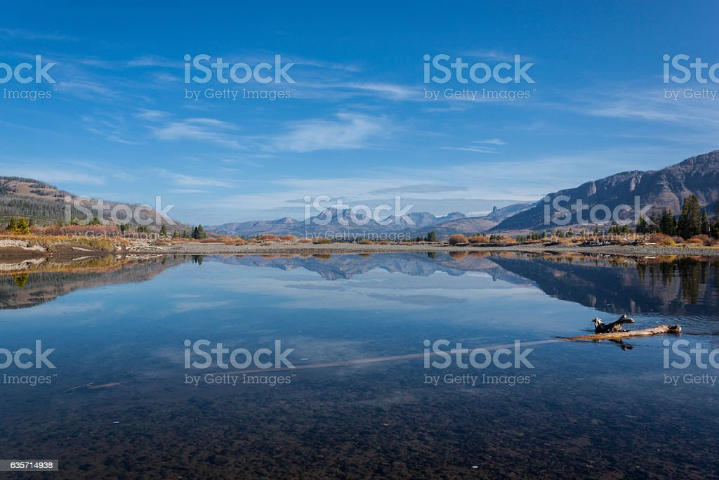 Yellowstone River Ford in the Thorofare. royalty-free stock photo