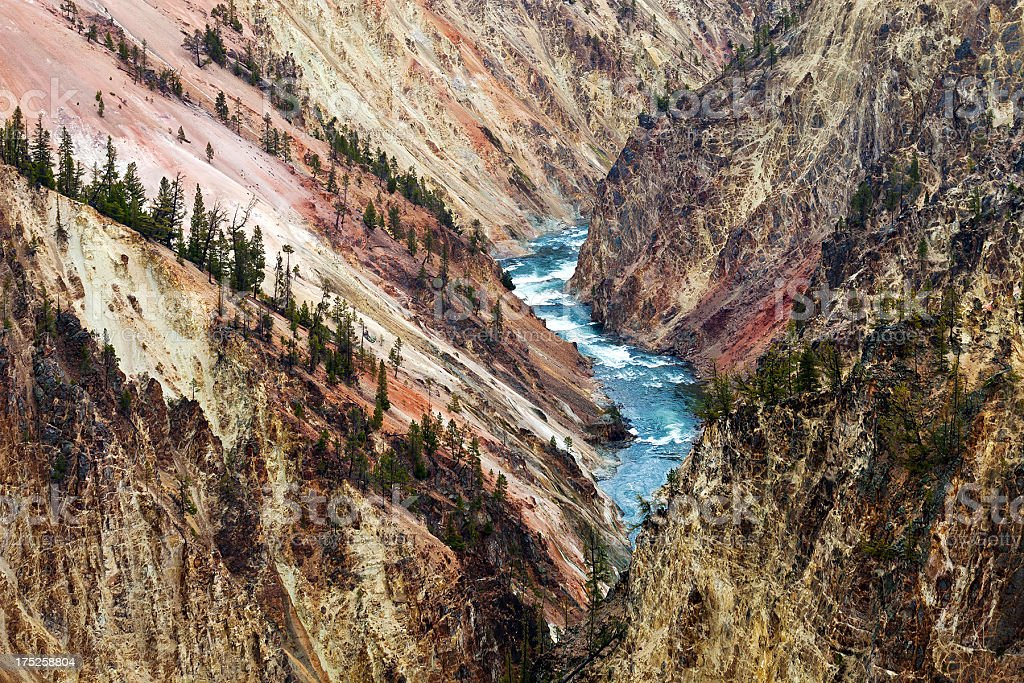 Yellowstone River In Wyoming royalty-free stock photo