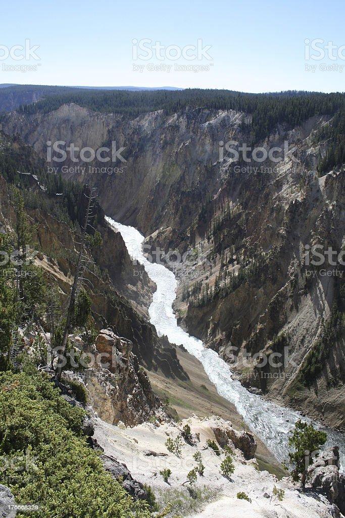 Río de Yellowstone foto de stock libre de derechos