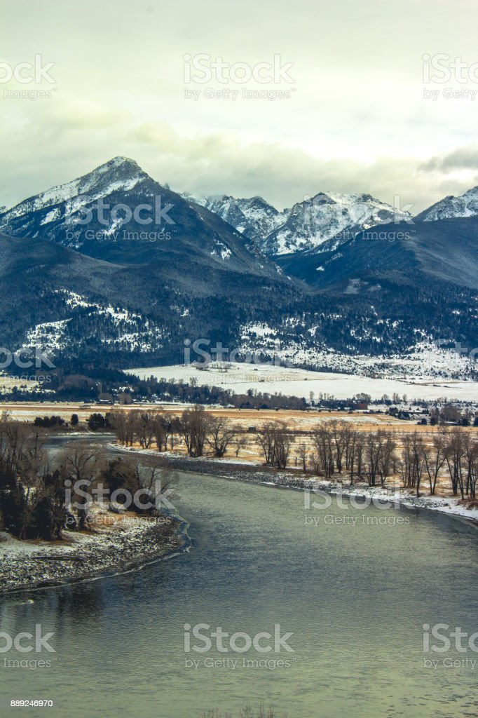 Yellowstone River stock photo