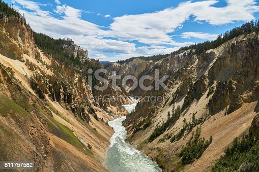 Yellowstone River from Brink of the Lower Falls