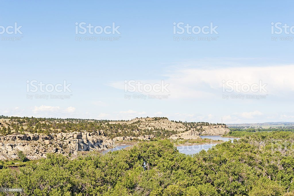 Yellowstone River Views stock photo