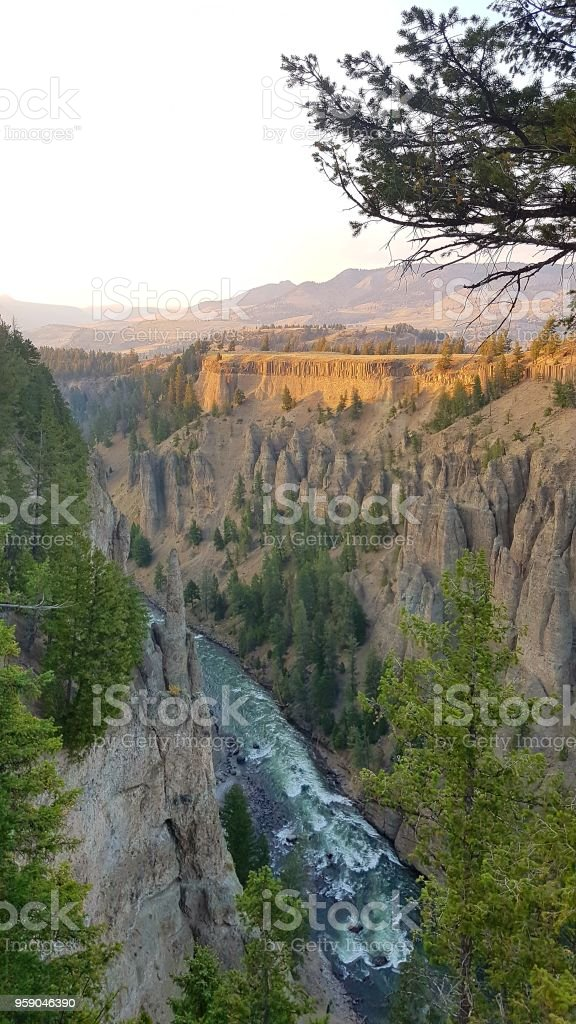Yellowstone River, Wyoming, USA stock photo