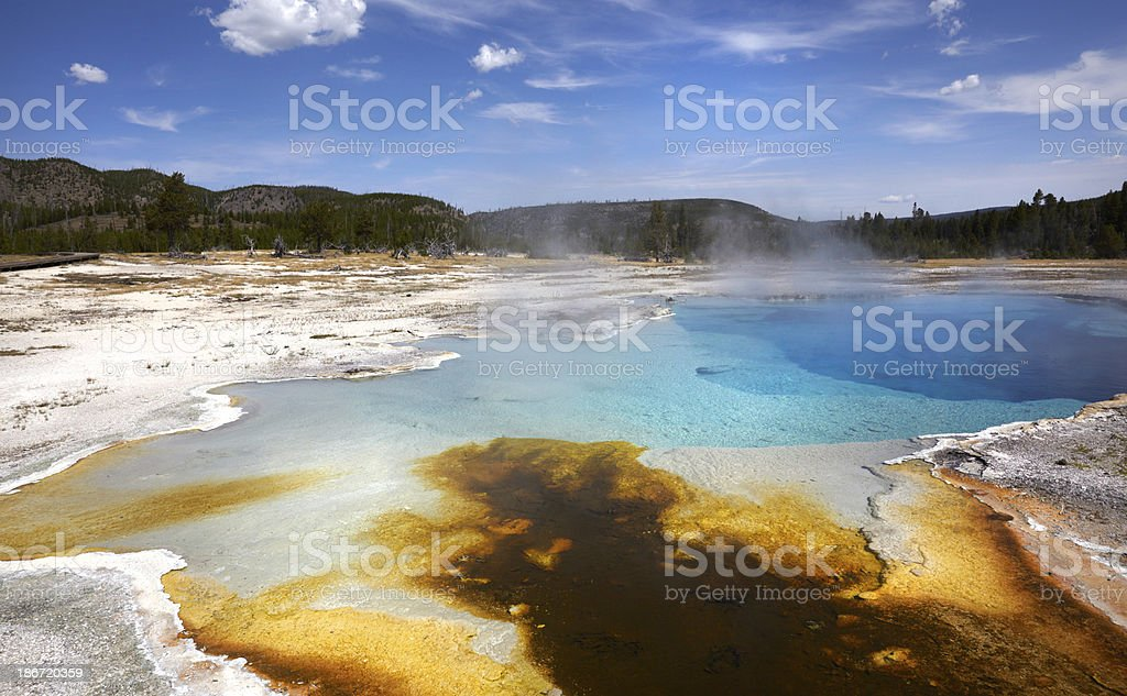 Yellowstone : Sapphire Pool, Biscuit Basin royalty-free stock photo