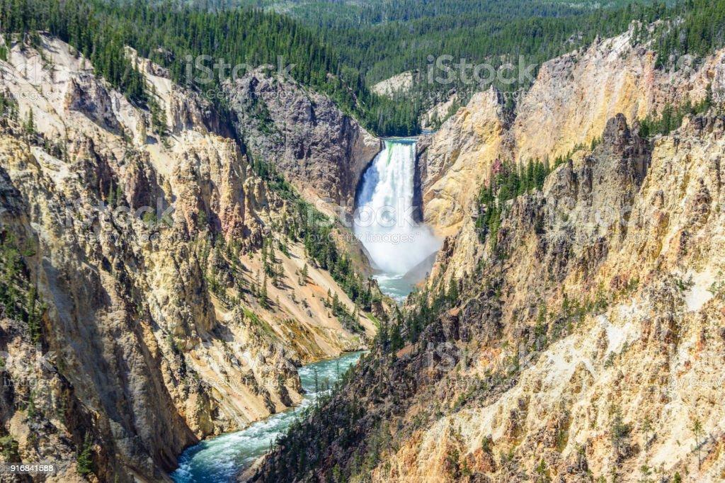 Waterfall YELLOWSTONE NATIONAL PARK Cross Stitch Chart