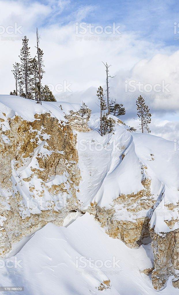 Yellowstone Winter Scene royalty-free stock photo