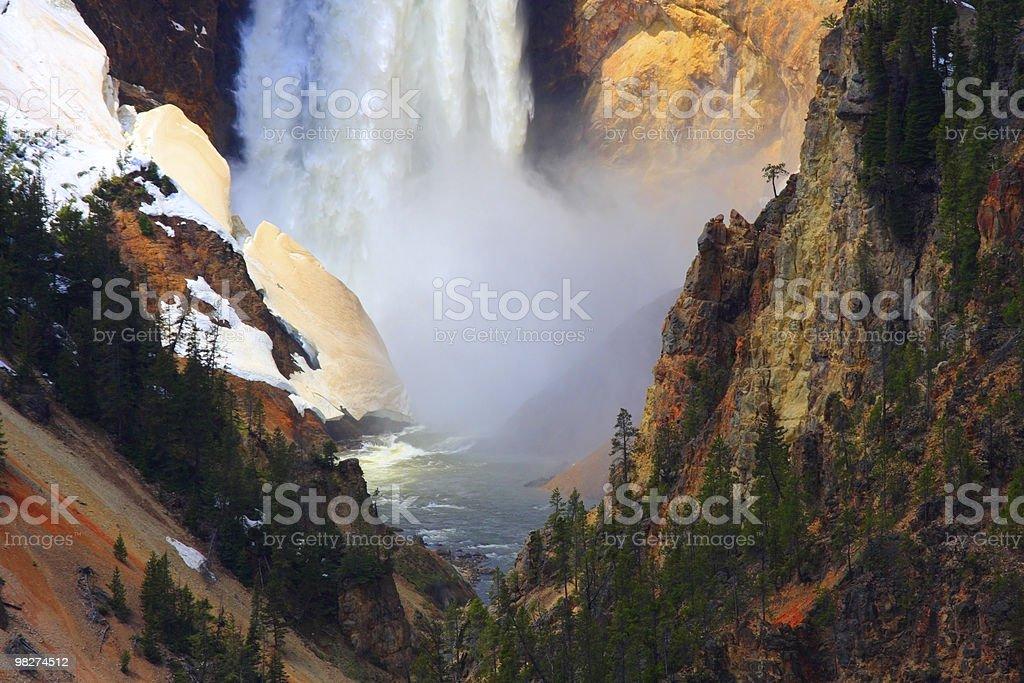 Yellowstone's Lower Falls, close-up royalty-free stock photo
