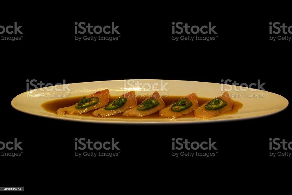 Yellowtail Sashimi stock photo